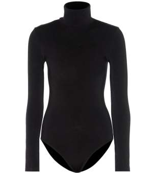 Cotton Blend Bodysuit Black