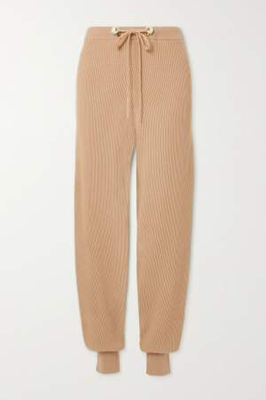 Ribbed Organic Track Pants