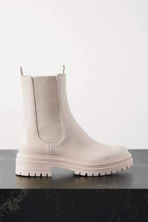 Leather Chelsea Boots Cream