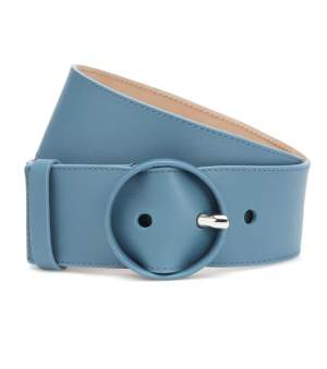 Leather Waist Belt Light Blue
