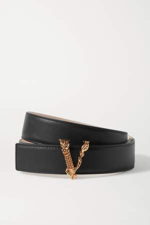 Leather V Belt Black