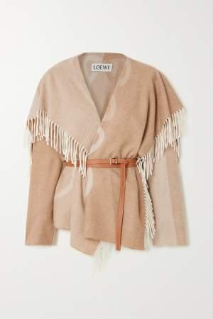 Belted & Fringed Jacket