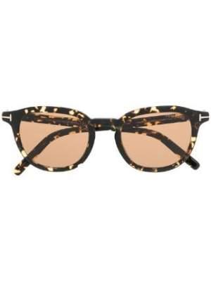 Round Frame Tortoise Sunglasses