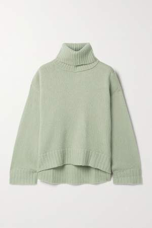 Light Grey Silk Blend Sweater