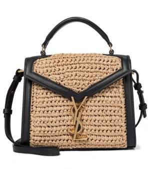 YSL Raffia Shoulder Bag