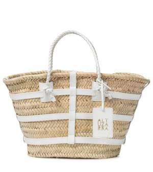 White Contrast Detail Tote
