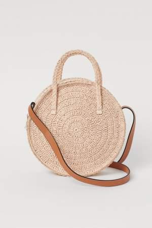 Round Straw Braided Bag