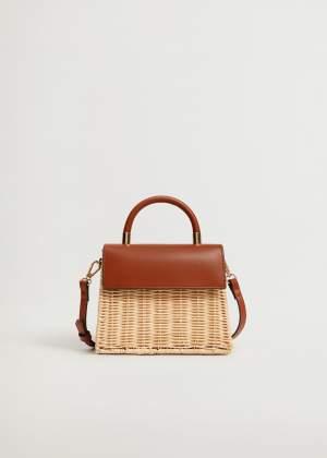 Wicker Box Bag