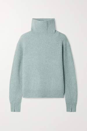 High Neck Jumper Teal