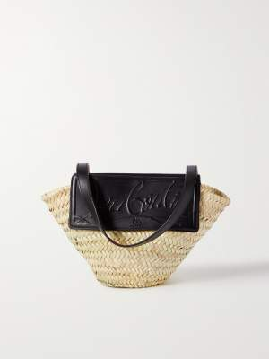 Embossed Woven Straw Tote