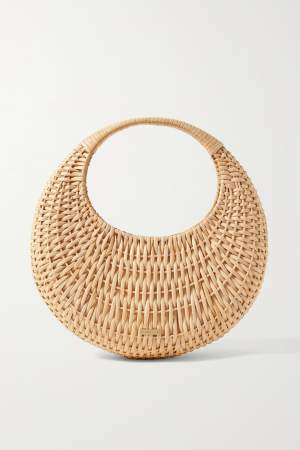 Structured Rattan Tote Basket