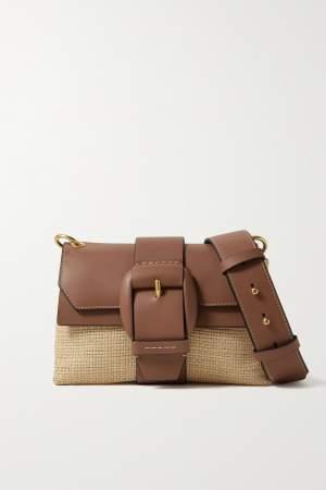 Two Tone Raffia Bag