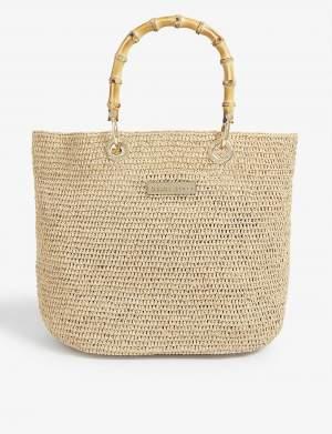 Bamboo Handle Tote Bag