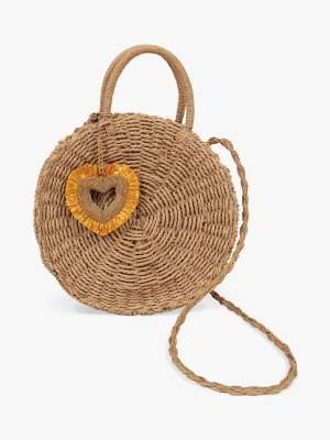 Heart Detail Shoulder Bag
