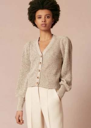 Cotton Silk Speckled Cardigan