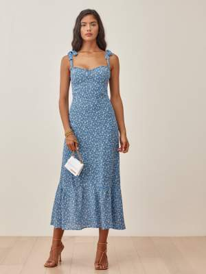 Tie Strap Floral Dress