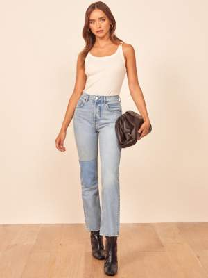 Patch High Rise Jeans
