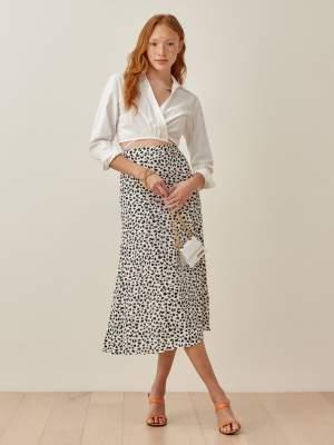 Slim Fit Skirt Animal Print