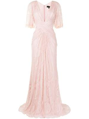 Lace Floor Length Gown