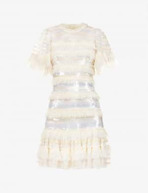 Sequin Tulle Mini Dress