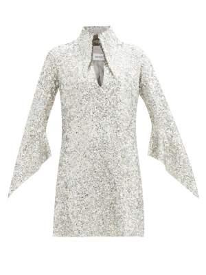 Sequin Collar Mini Dress
