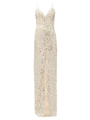 Sequin V Neck Dress