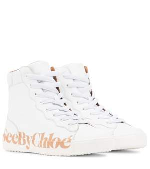 Chloe Leather Sneakers