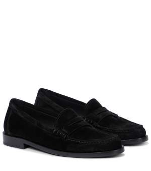 YSL Suede Loafers