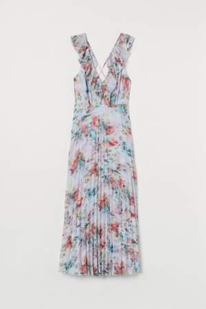 Pleated Chiffon Dress Floral
