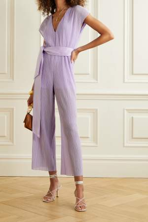 Belted Lilac Jumpsuit