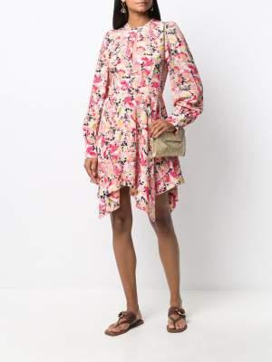 Asymmetric Floral Dress