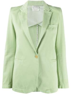 Single Breasted Blazer Green