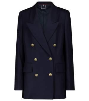 Wool and Cashmere Blazer Navy
