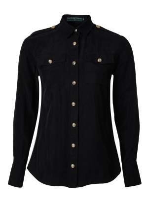 Luxury Cupro Shirt Black