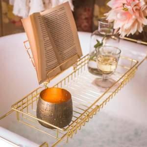 Gold Bath Caddy