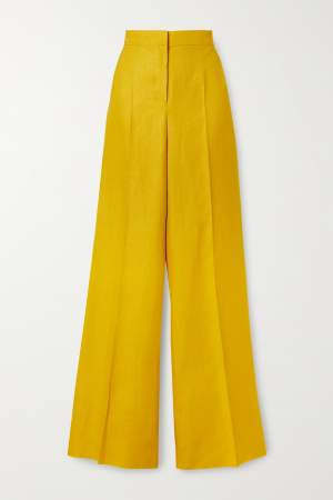 Linen Trousers Yellow