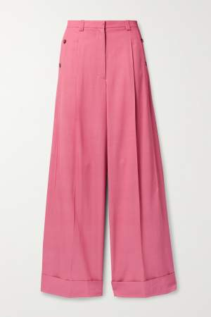 Pleated Trousers Pink
