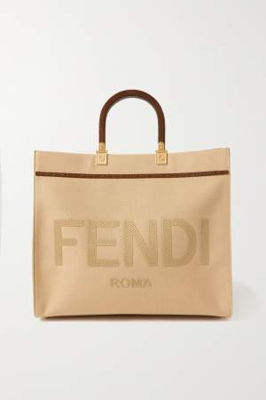 Trimmed Canvas Tote