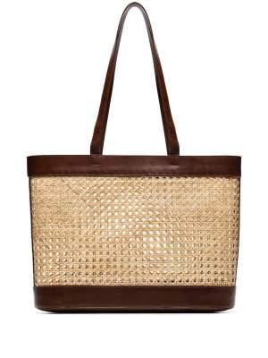 Rattan Mesh Tote Bag