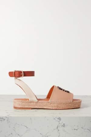 Canvas & Leather Sandals