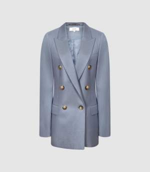 Double Breasted Blazer Blue
