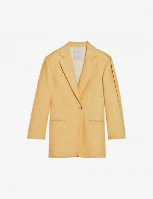 Single Breasted Blazer Yellow