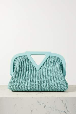 Crocheted Tote Blue