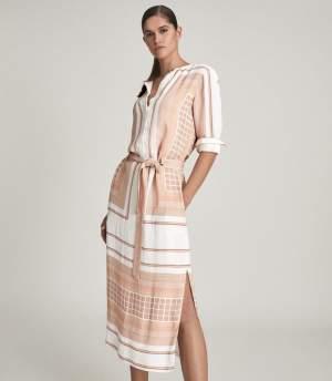 Scarf Print Midi Dress