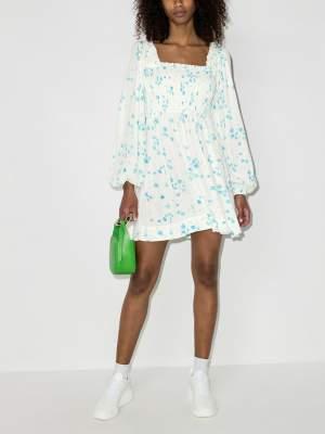 Floral Smocked Short Dress