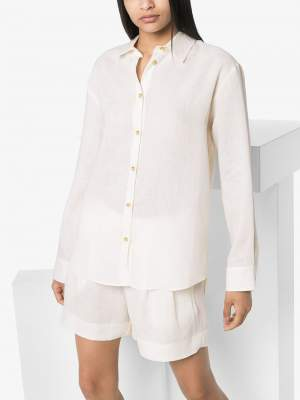 Organic Linen Shirt White