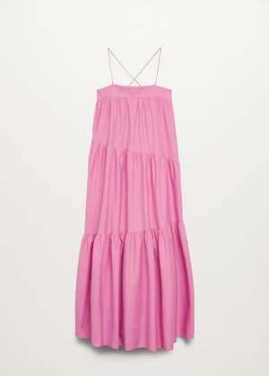 Maxi Ruffle Dress Pink