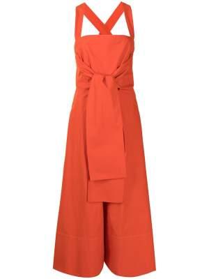 Tie Waist Apron Dress