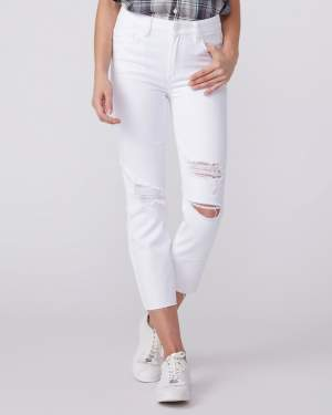 High Rise Distressed White