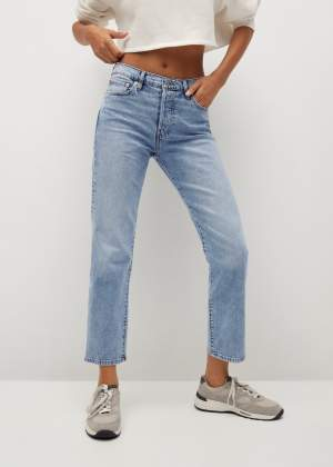 Straight Fit Ankle Jeans